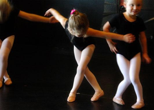 Ballerina bowing