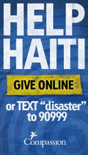 Help Haiti Donate To Compassion International Banner