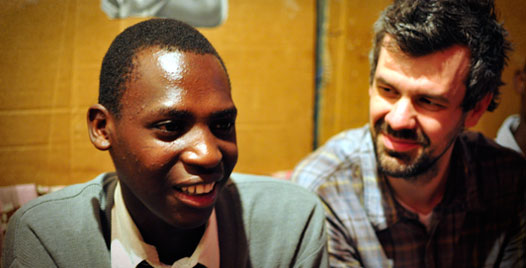 Eliud and Shaun Groves in Kenya