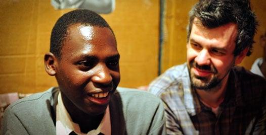 Eliud and Shaun Groves in Kenya