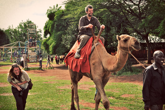 Shaun Groves on a camel