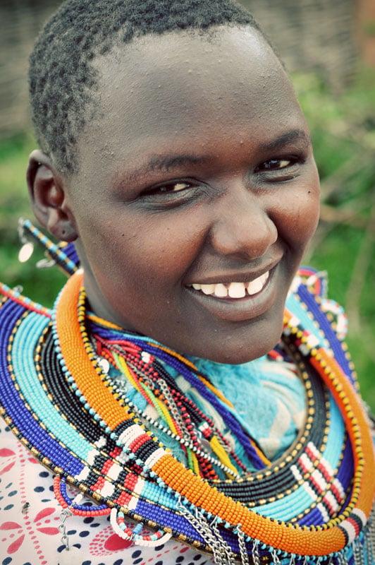 Maasai woman in Kenya