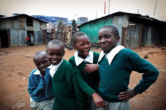 Compassion International sponsored children in Methare Valley slum Kenya