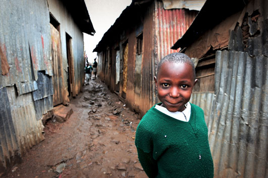 Compassion International sponsored child in Methare Valley slum Kenya