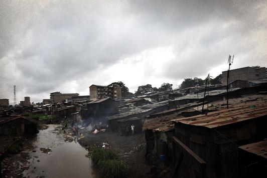 Methare Valley slum Kenya