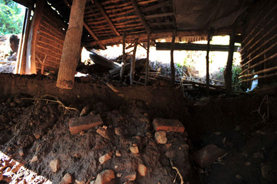 Inside home struck by Hurricane Ida in El Salvador