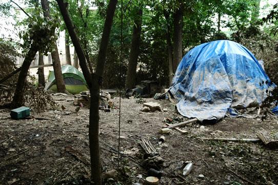 Nashville Tent City after flood