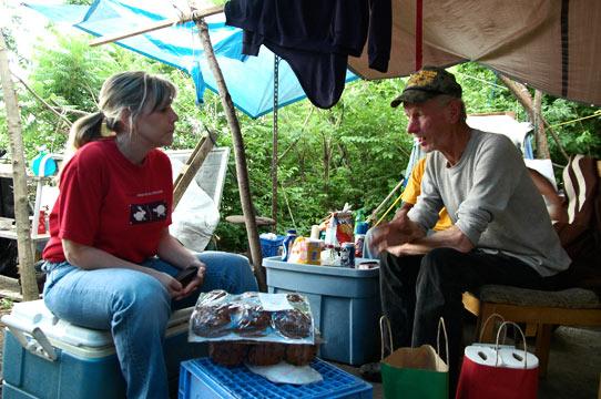 Skip in Nashville Tent City