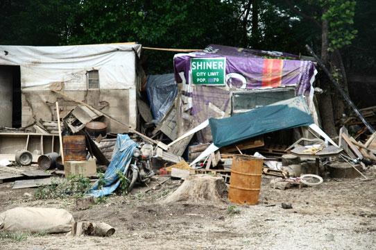 Nashville Tent City homes after flood