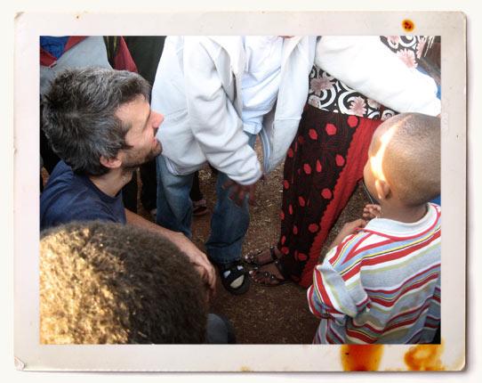 Shaun meeting Yospeh in Ethopia