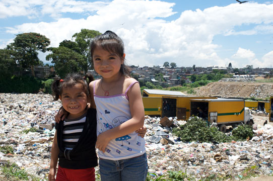 Guatemalan-Girls-At-City-Dump