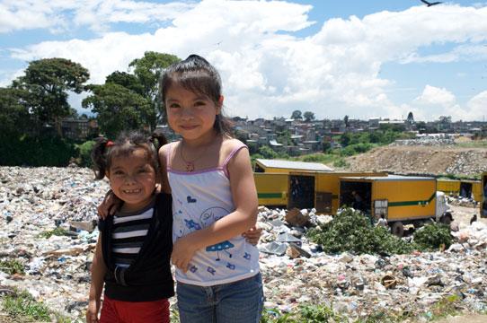 Guatemalan-Girls-At-City-Dump
