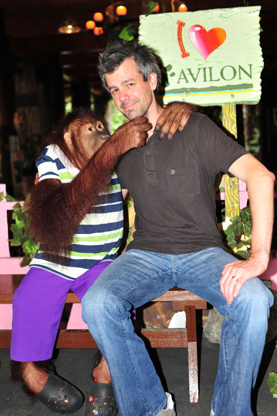 Shaun Groves with orangutan