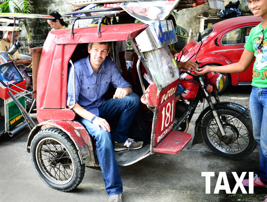 Filipino Taxi Tricycle