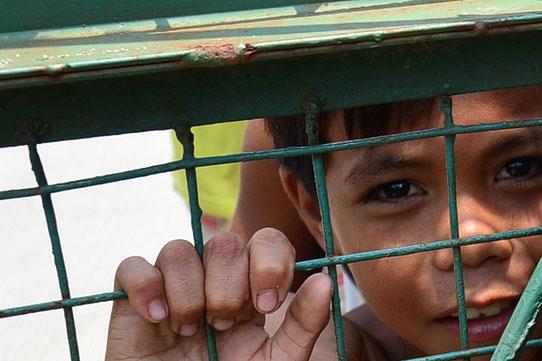 Boy at fence