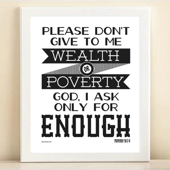 Enough free printable poster framed