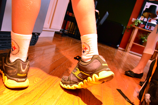Pittsburgh Steelers socks and shoes