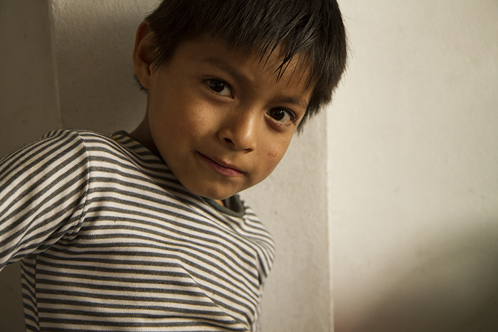 COmpassion sponsored boy in Lima Peru