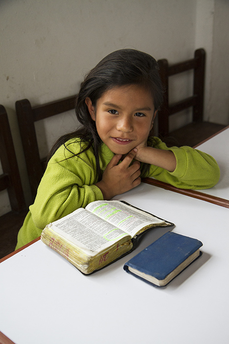 Compassion sponsored girl in Lima Peru