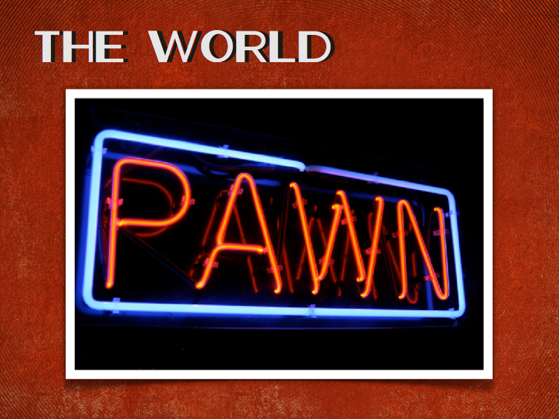 World Flesh Devil pawn shop sign