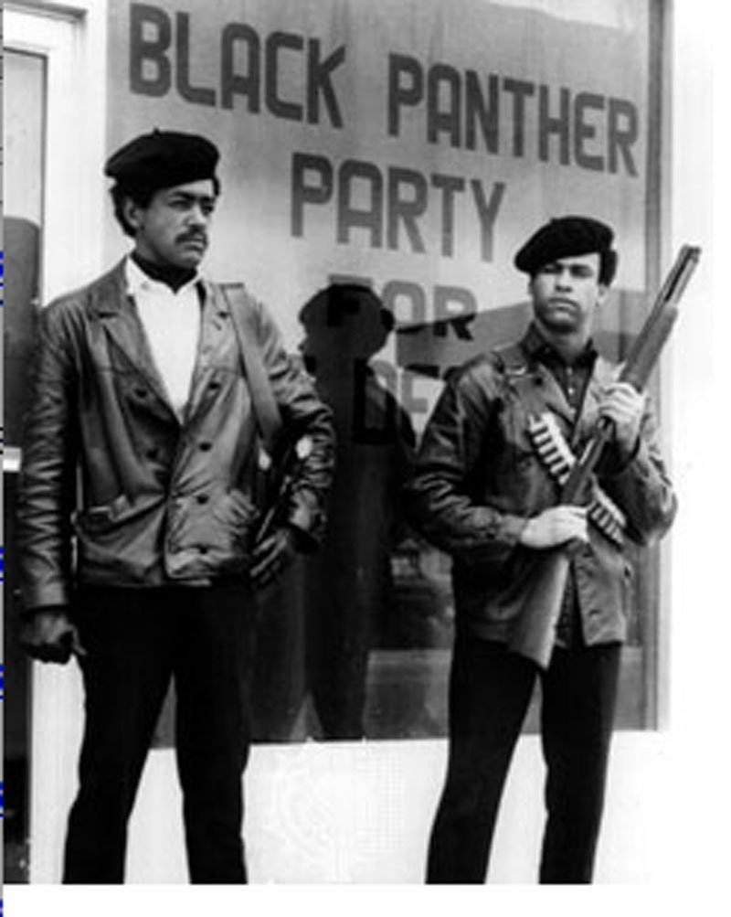 black panthers Seale Huey Newton