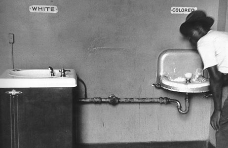 whites only drinking fountain