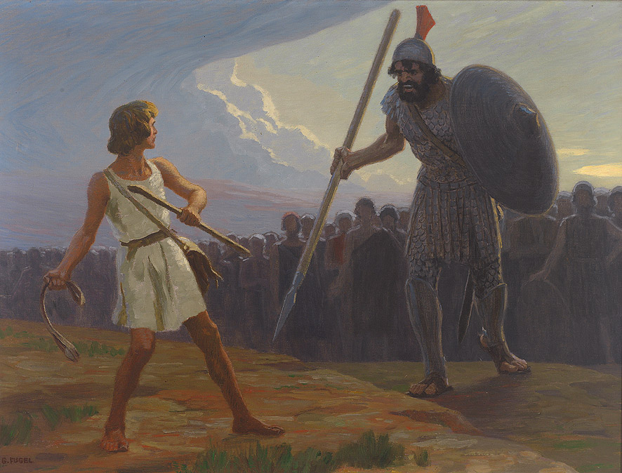 David And Goliath Fugel painting