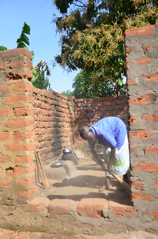 Sweeping-behind-walls