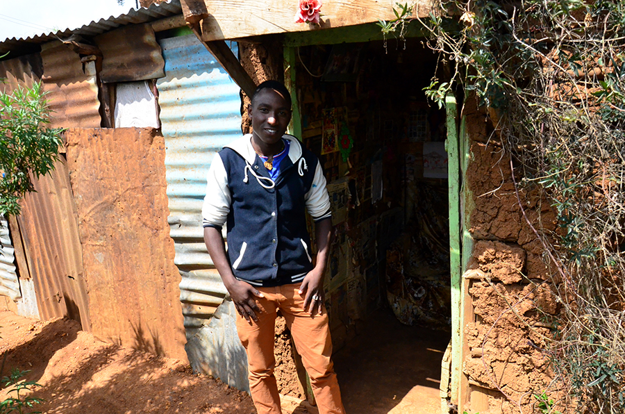 Kenyan man's house