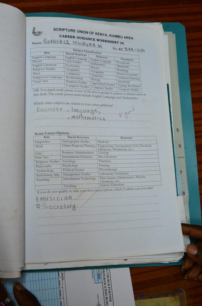 Boniface's folder