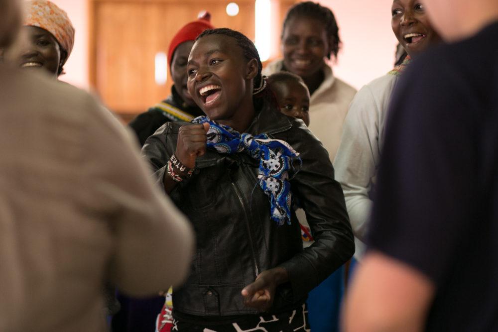 Smiling Kenyan woman