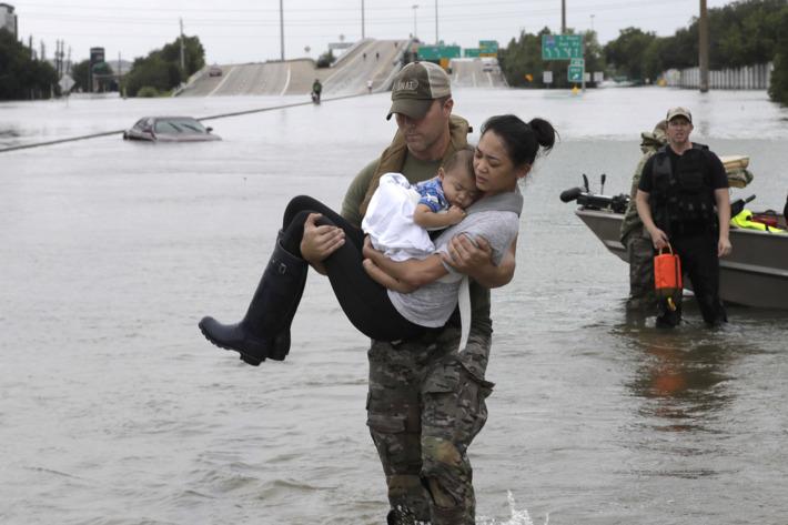 Hurricane Harvey Houston rescue