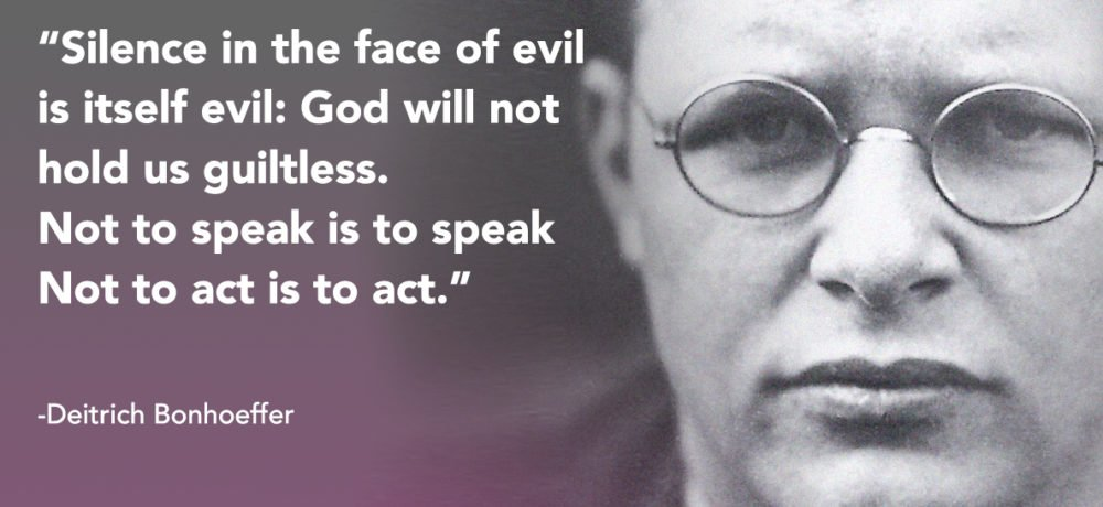 Deitrich Bonhoeffer quote silence